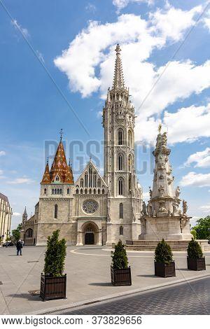 Matthias Church In Fisherman Bastion, Budapest, Hungary