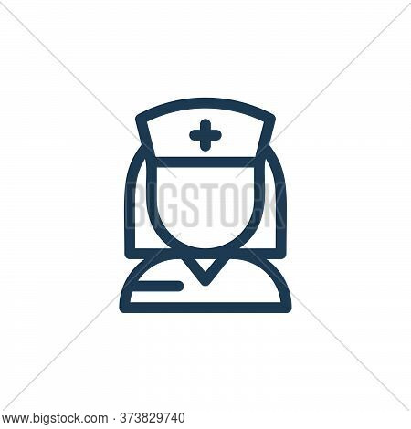nurse icon isolated on white background from medical tools collection. nurse icon trendy and modern