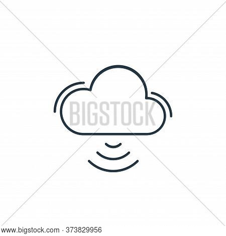 cloud storage icon isolated on white background from network and database collection. cloud storage