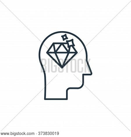 mind icon isolated on white background from casino collection. mind icon trendy and modern mind symb