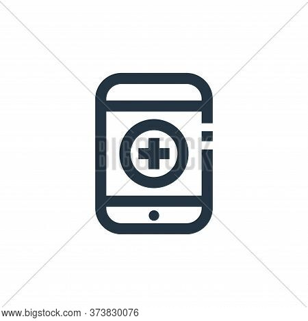medical app icon isolated on white background from medical kit collection. medical app icon trendy a