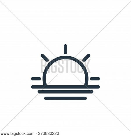 sunset icon isolated on white background from holiday collection. sunset icon trendy and modern suns