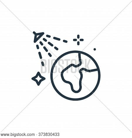 earth icon isolated on white background from mass disinfection collection. earth icon trendy and mod