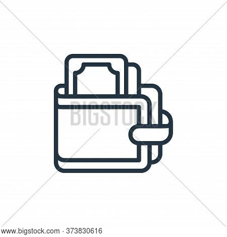 wallet icon isolated on white background from money collection. wallet icon trendy and modern wallet