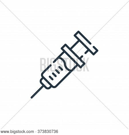 injection icon isolated on white background from allergies collection. injection icon trendy and mod