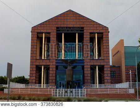 Houston, Texas, Usa - June 29, 2019: The Federal Reserve Bank Of Dallas Houston Branch, In Allen Par