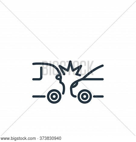 accident icon isolated on white background from insurance collection. accident icon trendy and moder