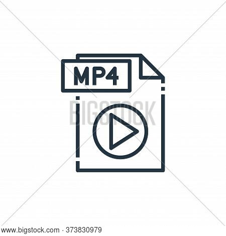 mp file icon isolated on white background from file type collection. mp file icon trendy and modern