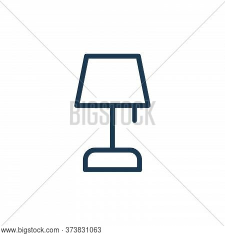 table lamp icon isolated on white background from work office supply collection. table lamp icon tre