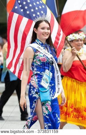 Indianapolis, Indiana, Usa - May 25, 2019: Indy 500 Parade, The Indianapolis International Festival