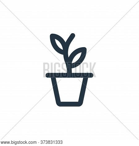 plant pot icon isolated on white background from landscaping equipment collection. plant pot icon tr
