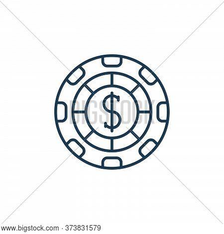 casino chip icon isolated on white background from casino collection. casino chip icon trendy and mo