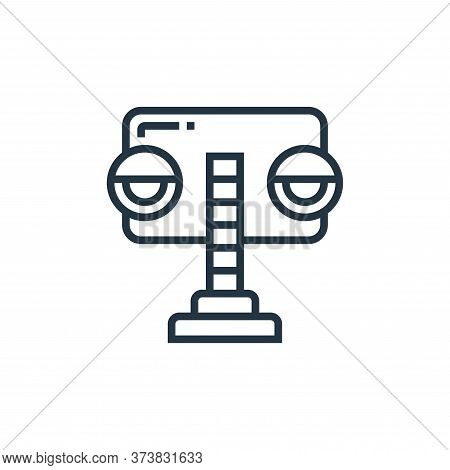 traffic lights icon isolated on white background from railway collection. traffic lights icon trendy