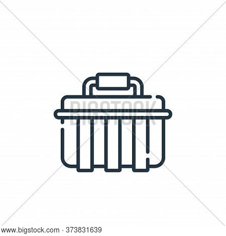 toolbox icon isolated on white background from electrician tools and elements collection. toolbox ic