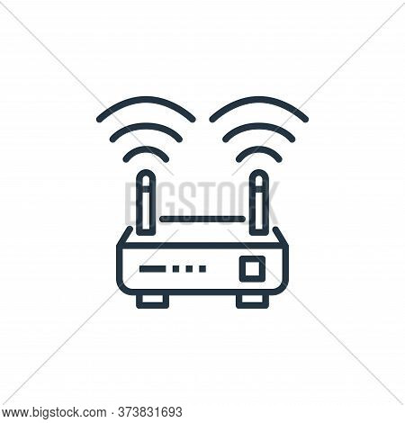 wifi router icon isolated on white background from work from home collection. wifi router icon trend