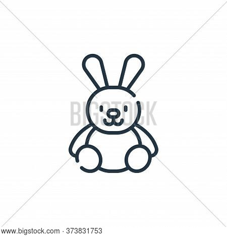 bunny icon isolated on white background from children toys collection. bunny icon trendy and modern