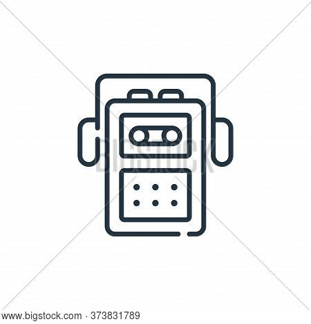 cassette player icon isolated on white background from music collection. cassette player icon trendy