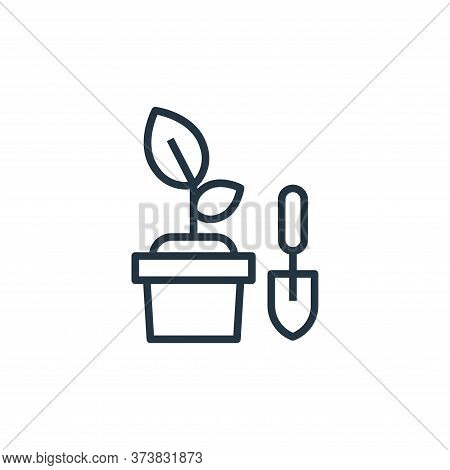 gardening icon isolated on white background from stay at home collection. gardening icon trendy and