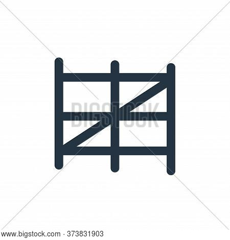 fence icon isolated on white background from landscaping equipment collection. fence icon trendy and
