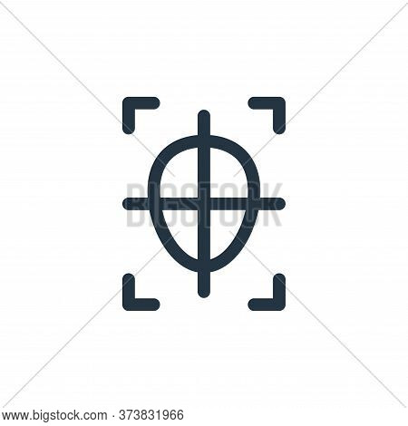 shoot icon isolated on white background from virtual reality collection. shoot icon trendy and moder