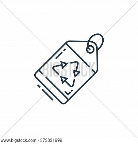 eco tag icon isolated on white background from environment and eco collection. eco tag icon trendy a
