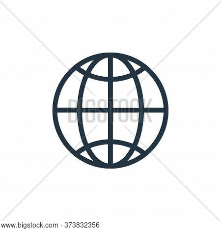 internet icon isolated on white background from banking and finance flat icons collection. internet