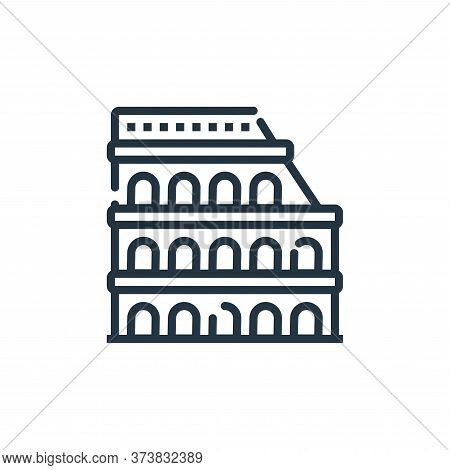 Colosseum icon isolated on white background from world monument collection. Colosseum icon trendy an