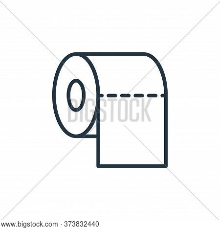 toilet paper icon isolated on white background from stop virus collection. toilet paper icon trendy