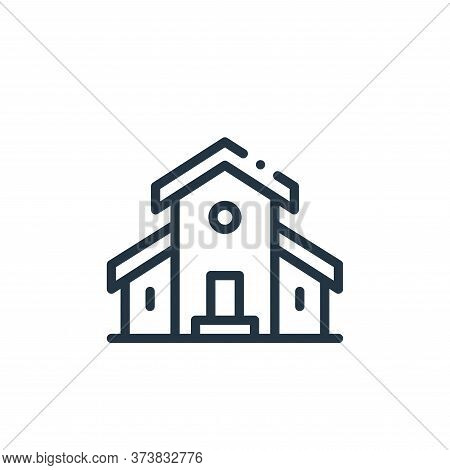 cottage icon isolated on white background from in the village collection. cottage icon trendy and mo