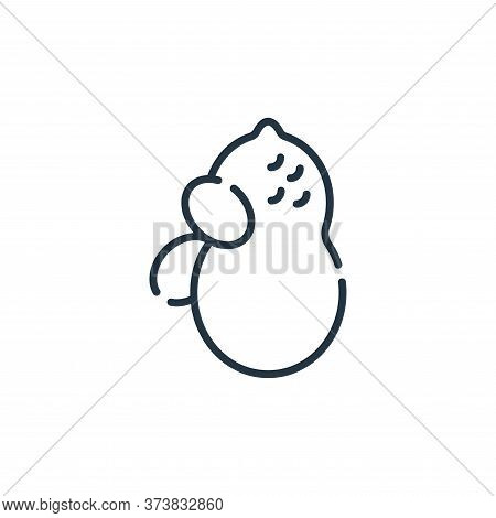 peanut icon isolated on white background from allergies collection. peanut icon trendy and modern pe