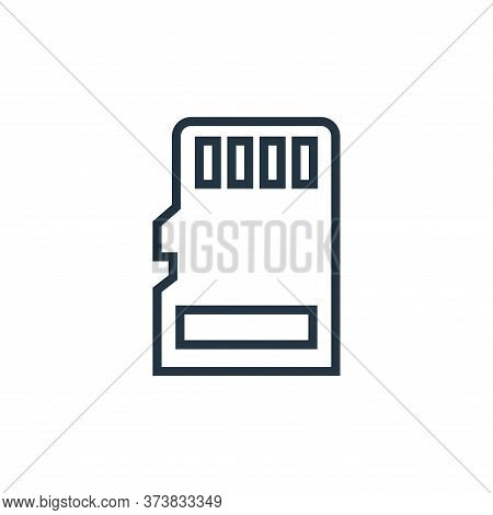 micro sd icon isolated on white background from hardware collection. micro sd icon trendy and modern