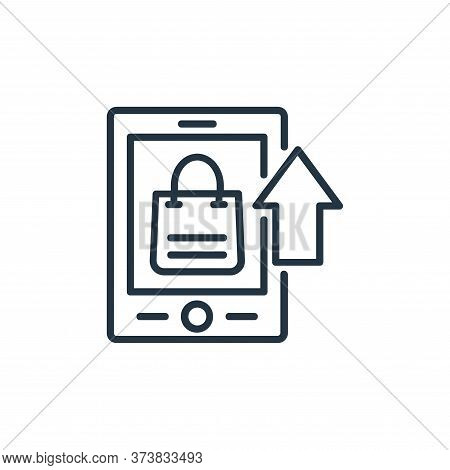 mobile app icon isolated on white background from shopping line icons collection. mobile app icon tr