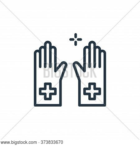 gloves icon isolated on white background from coronavirus collection. gloves icon trendy and modern