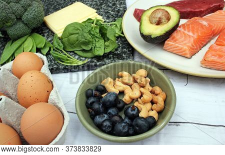 low carb ketogenic gluten free paleo style diet protein based meat fish dairy eggs veg berries and n
