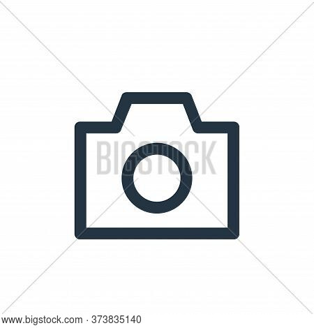 photo camera icon isolated on white background from user interface collection. photo camera icon tre