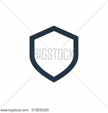 shield icon isolated on white background from user interface collection. shield icon trendy and mode