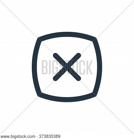 cross icon isolated on white background from basic ui collection. cross icon trendy and modern cross