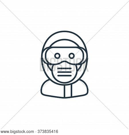 safety googles icon isolated on white background from coronavirus collection. safety googles icon tr