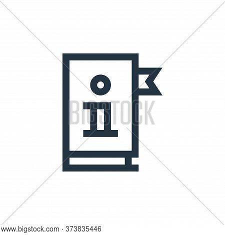 manual icon isolated on white background from job resume collection. manual icon trendy and modern m