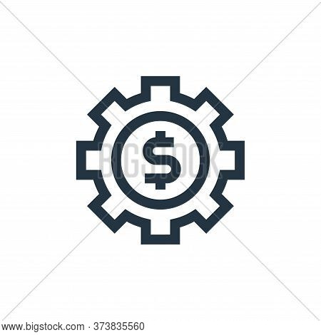 gear icon isolated on white background from marketing and growth collection. gear icon trendy and mo