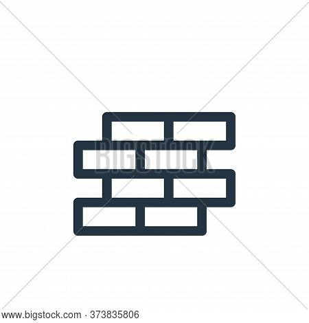 brick wall icon isolated on white background from labour day collection. brick wall icon trendy and