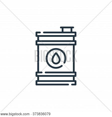 oil barrel icon isolated on white background from desert collection. oil barrel icon trendy and mode