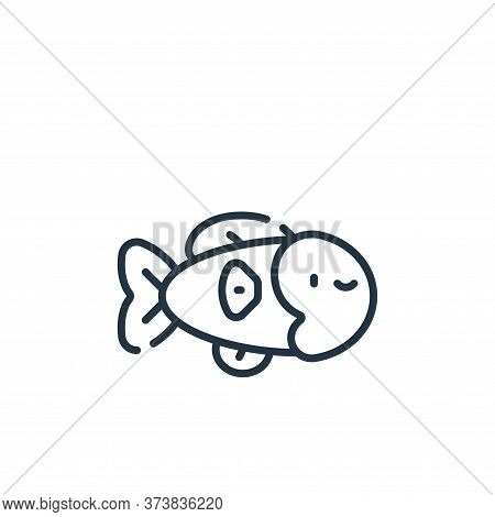 fish icon isolated on white background from italy collection. fish icon trendy and modern fish symbo
