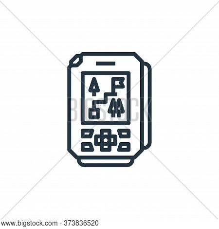 gps icon isolated on white background from camping collection. gps icon trendy and modern gps symbol