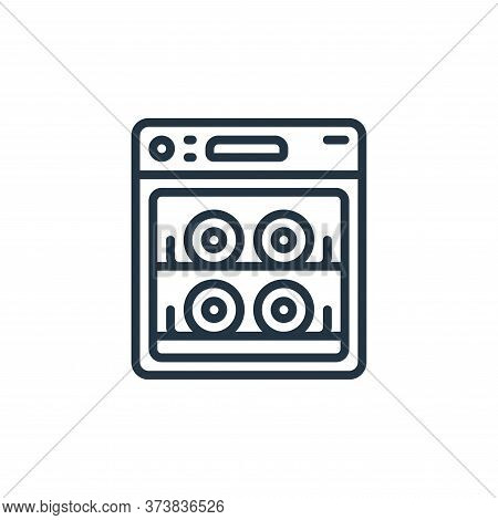 dish washer icon isolated on white background from hygiene collection. dish washer icon trendy and m