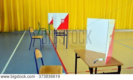 Warsaw, Poland. 28 June 2020. Polling Station. Polish Presidential Election 2020. First Round Of Ele