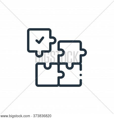puzzle icon isolated on white background from design thinking collection. puzzle icon trendy and mod