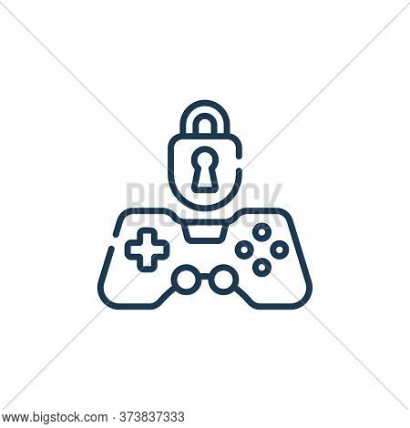 locked icon isolated on white background from videogame collection. locked icon trendy and modern lo