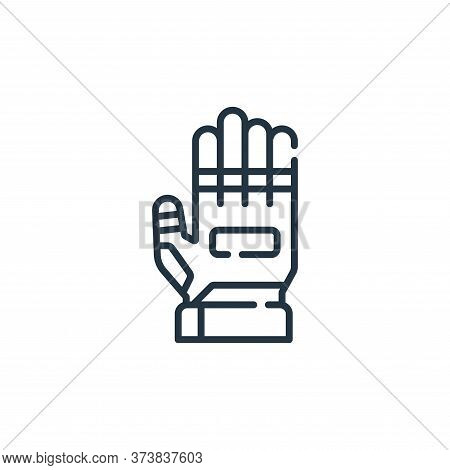 gloves icon isolated on white background from auto racing collection. gloves icon trendy and modern