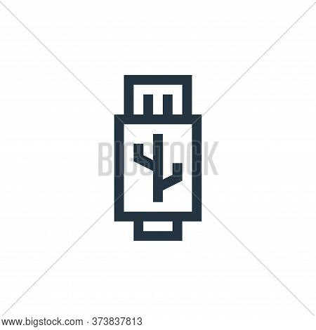 usb icon isolated on white background from electronics collection. usb icon trendy and modern usb sy